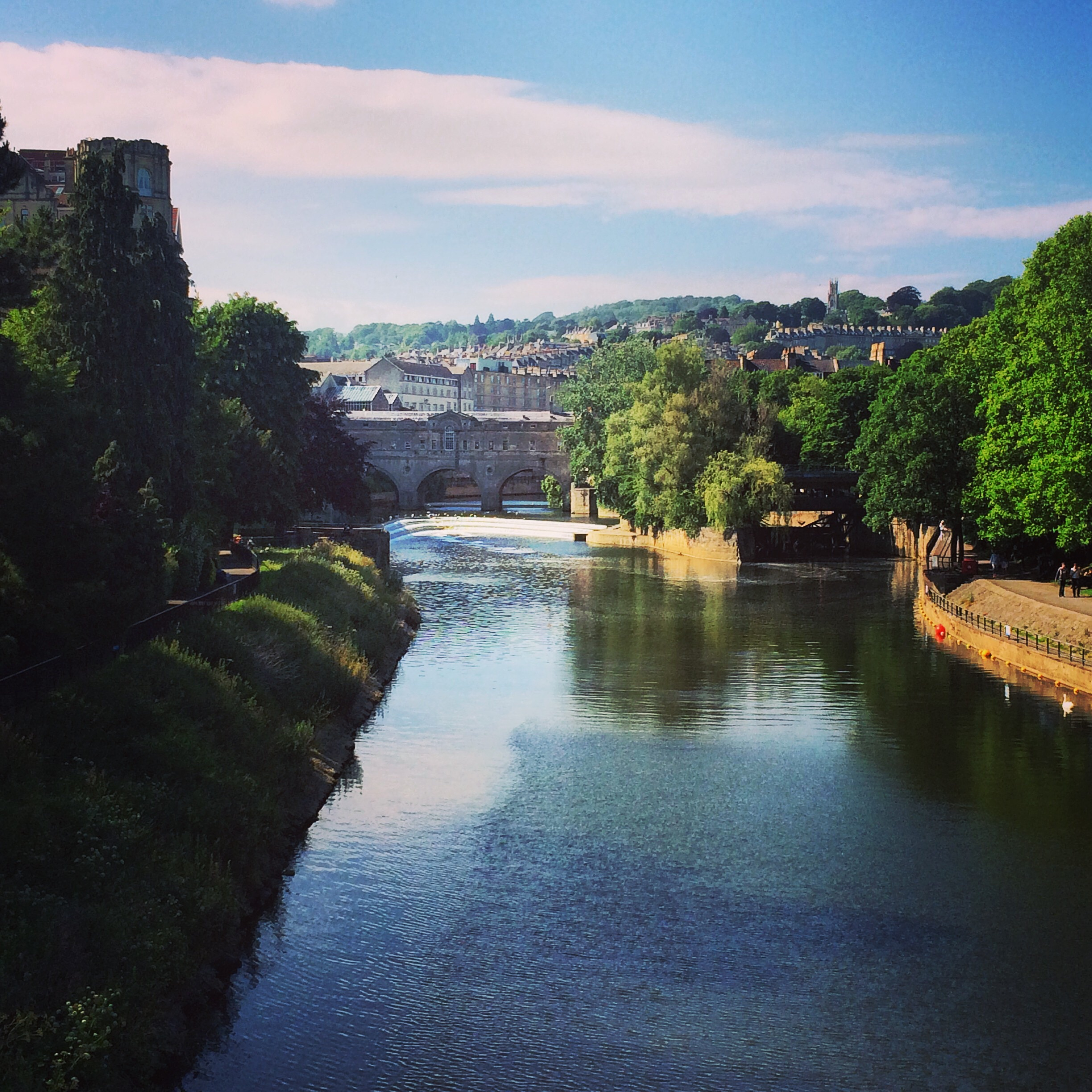 The view from Pulteney Bridge, Bath