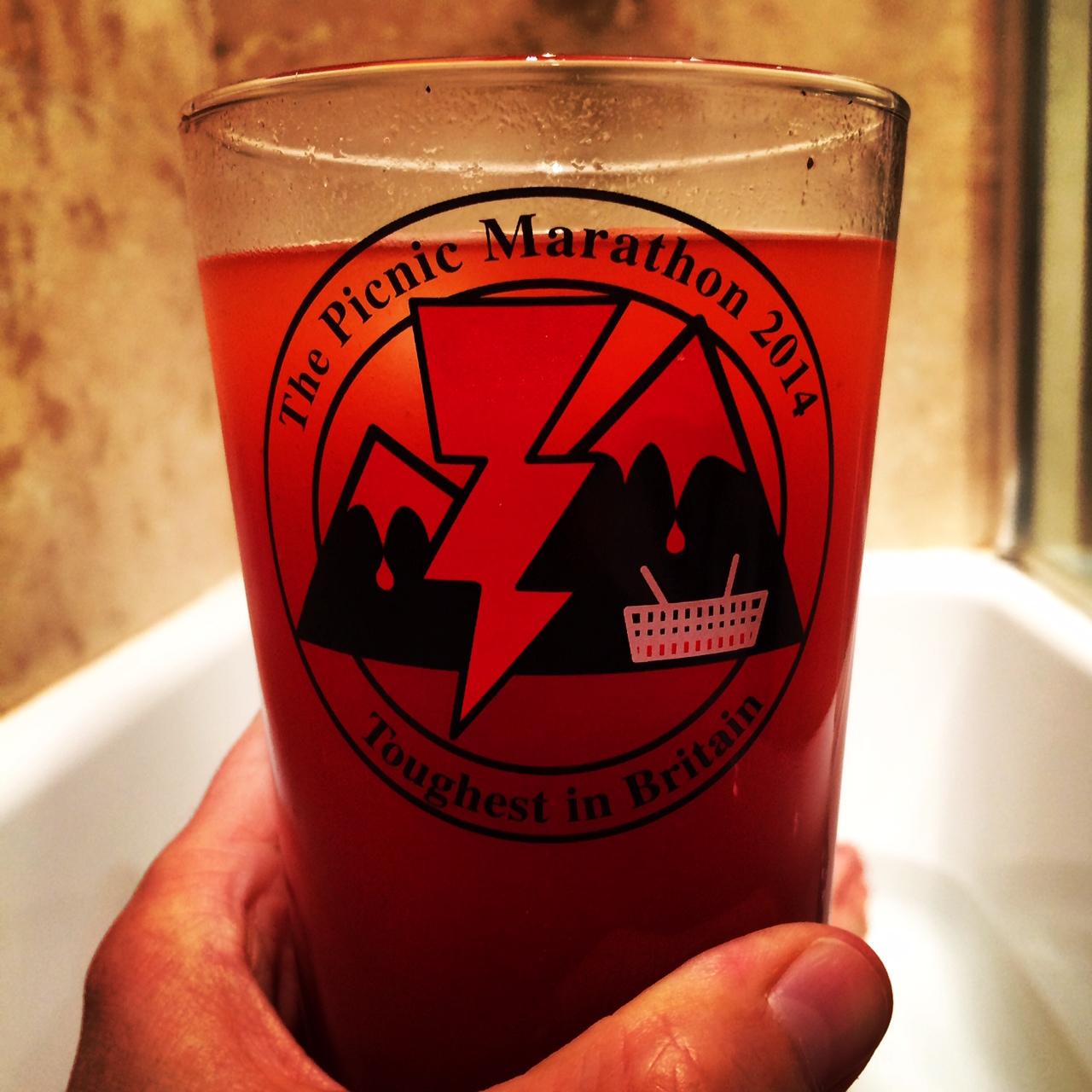 Celebratory michelada in a cold bath