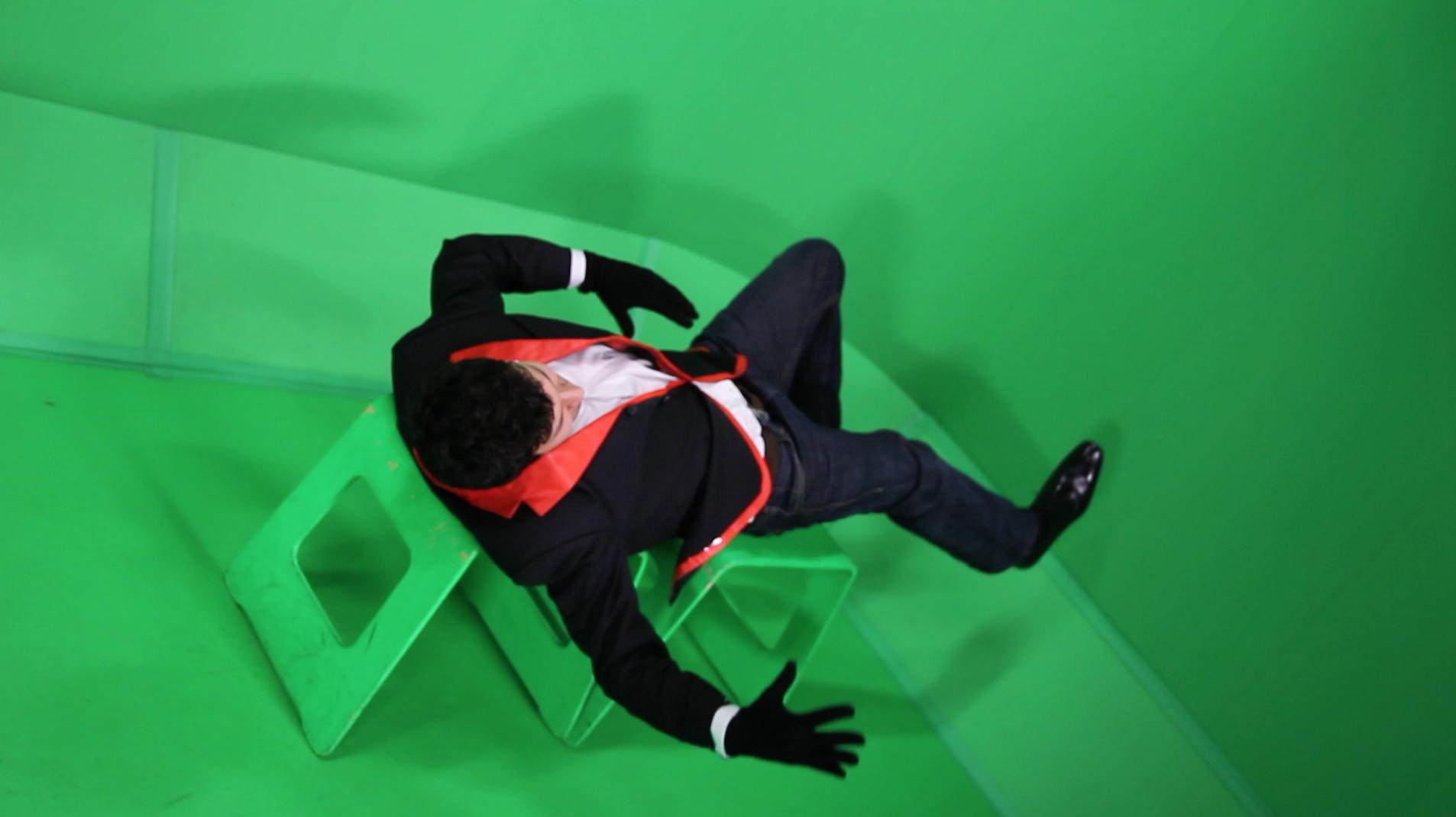 Green screen shoot footage