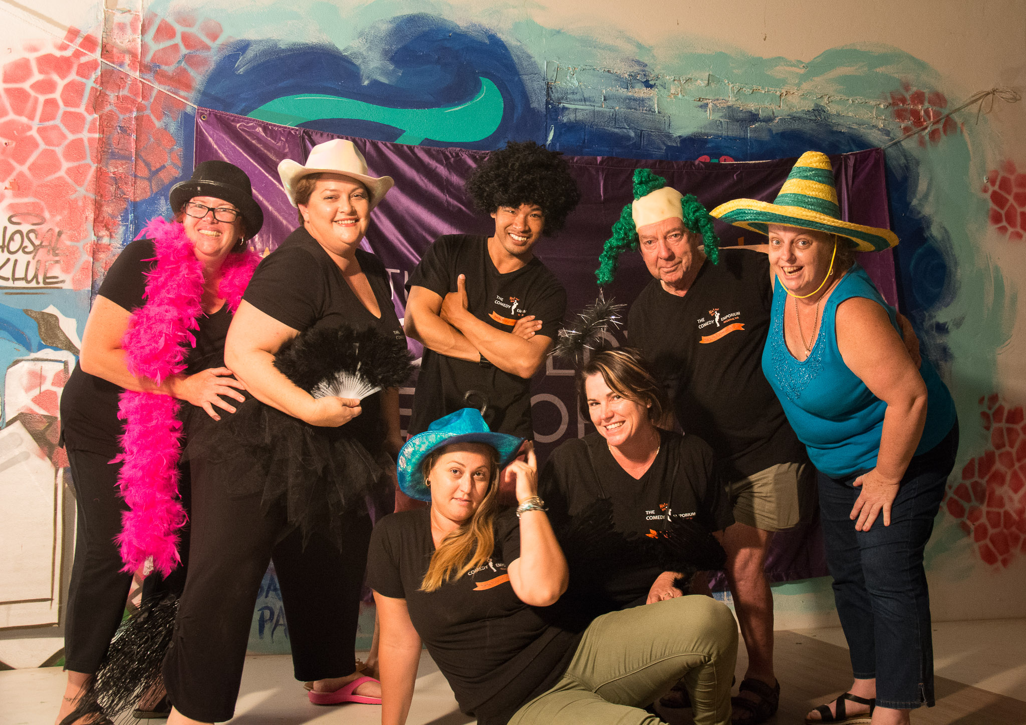 Fellow troupe of not so young Improvisers from Sister Club in Geraldton.