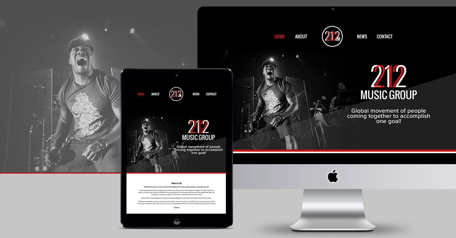 212 Music Group Website