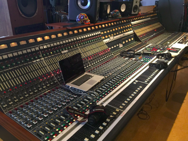 Paul Epworth's 72 channel Neve desk at The Church