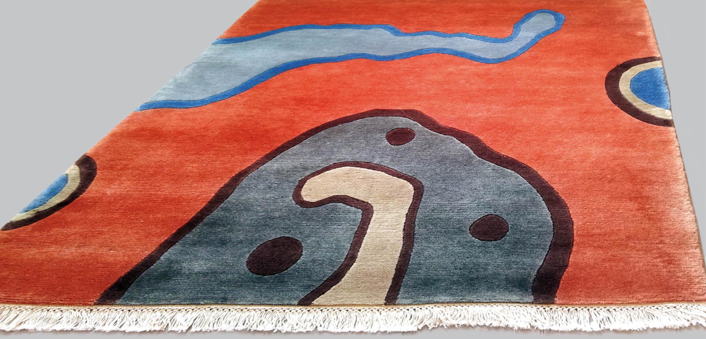 Den handgeknüpften Teppich 'Universe' gibt es in 3 Größen: 125 x 150, 170 x 200, 220 x 260