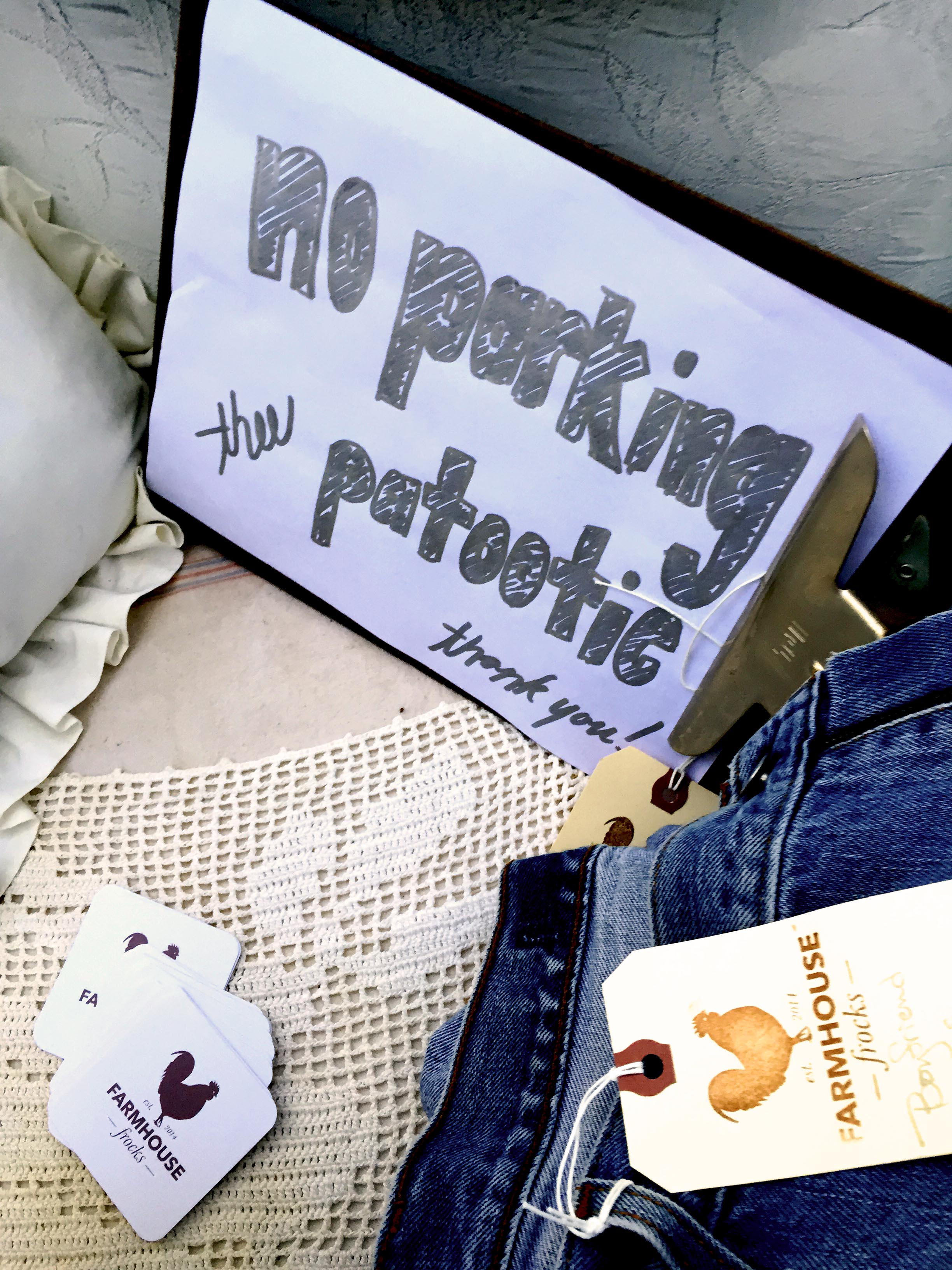 """""""No parking thee patootie!"""" Love this sign from  Farmhouse Frocks !"""