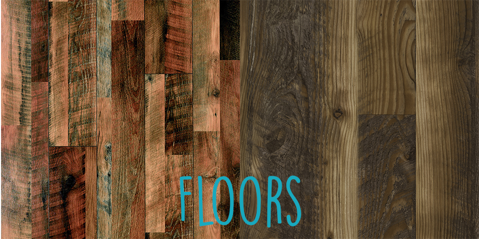 I can't decide which floor I like best - the warm red tones with touches of teal (on the left), or the the more subtle gray/brown tones of the one on the right! Which one do you like?