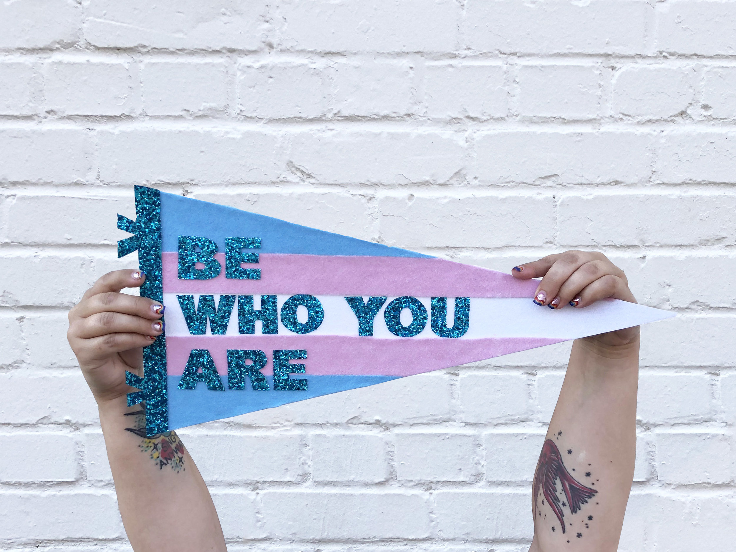 Be Who You Are Pennant.jpg