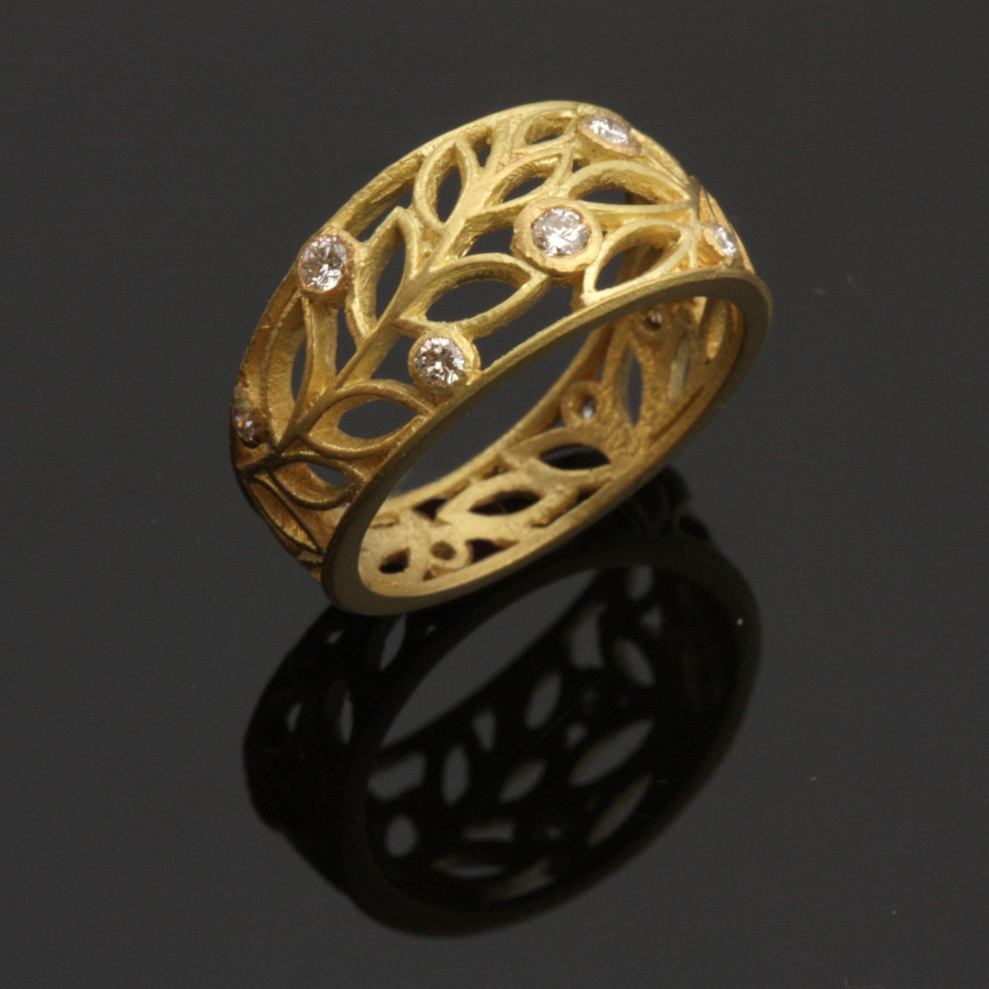 Leaf Filigree Ring