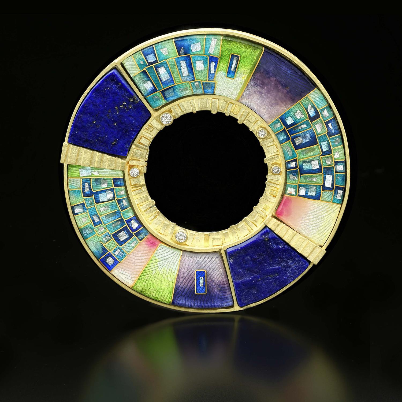 Orbit #2 Pin/Pendant