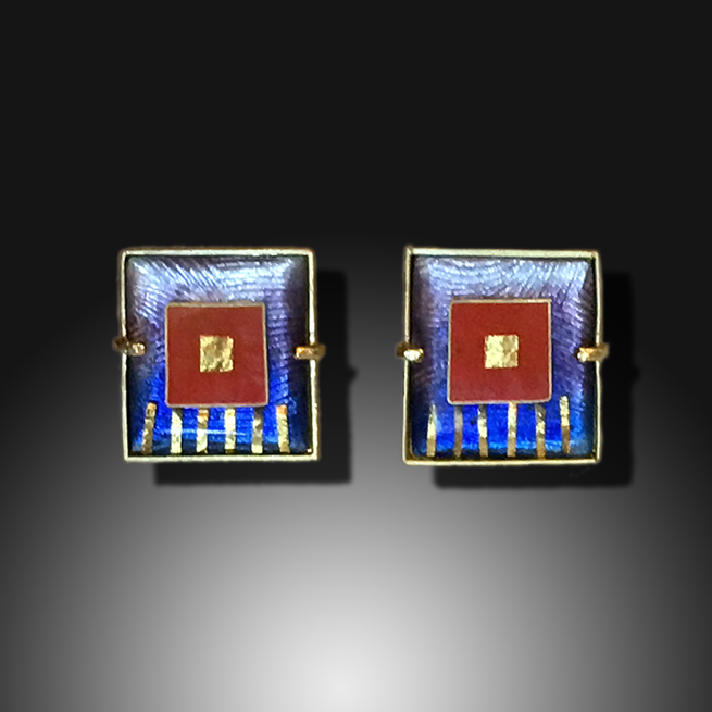 Square in Square Earring