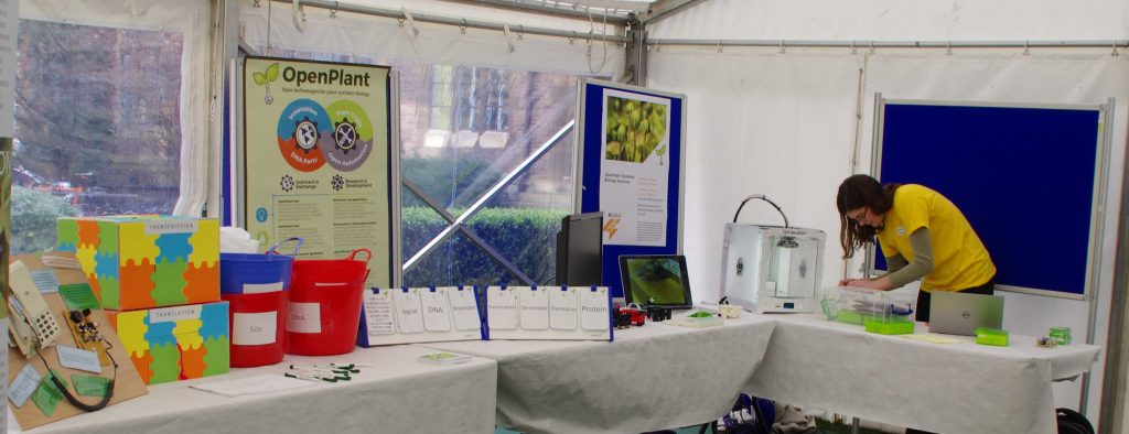 SETTING UP THE 3D PRINTER AND OPEN HARDWARE STAND AT CAMBRIDGE SCIENCE FESTIVAL