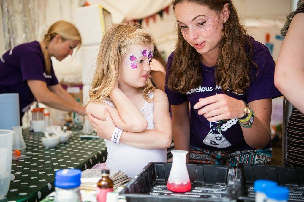 Learning about pigments at BoomTown Fair