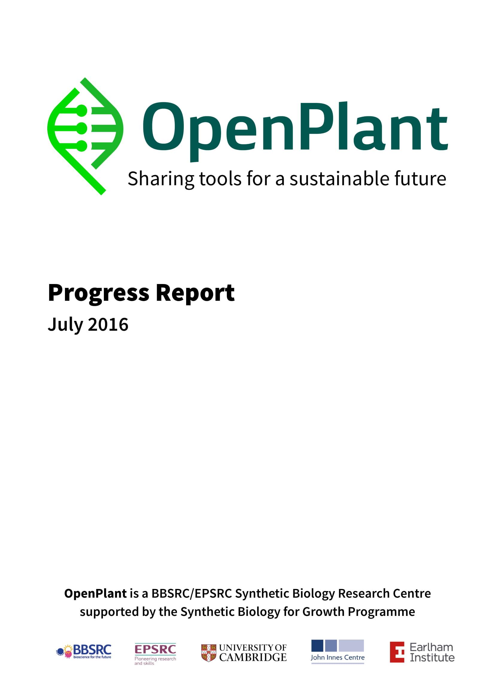 Progress Report 2016