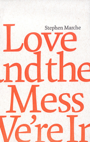 "Love and the Mess We're In - ""This country's master creator of parallel universes.""— The National PostWhen Viv flies to Buenos Aires for a secret liaison with Clive, there is no ambiguity as to their intentions—adultery. But this is where conventionality terminates in Love and the Mess We're In, a work whose lyric richness and inventiveness skillfully embody the tumbles and turns of love in a postmodern age. Marche collaborates with award-winning typographer Andrew Steeves to create richly polyschematic book pages--a series of posters rather than pages--whose influences range from the interwoven texts, geometric shaping and pattern-making of Hebraic calligraphy, illuminated manuscripts and incunabular typography to the ordered tangle of a New York City subway map."