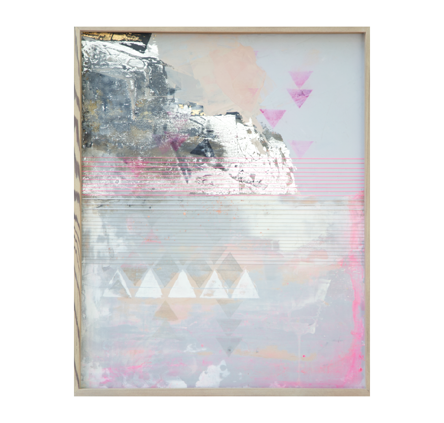 Atlas Mountains, 2015   Acrylic And Mixed Media On Wood  19x24 inches // SOLD