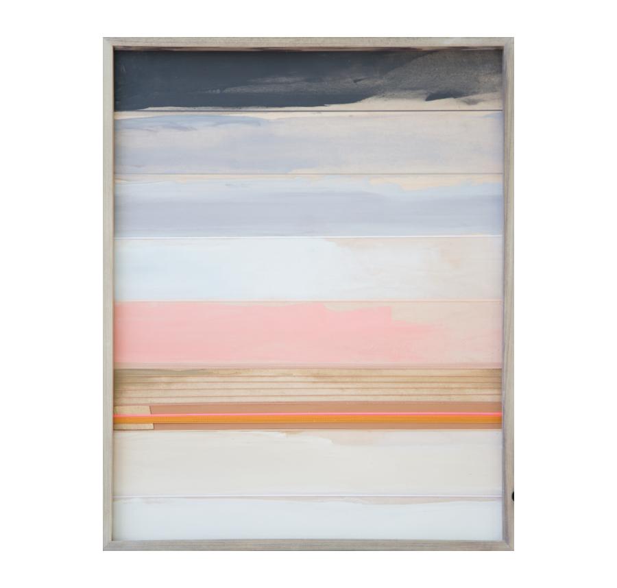 Yardley, 2015   Acrylic And Mixed Media On Wood  19x24 inches