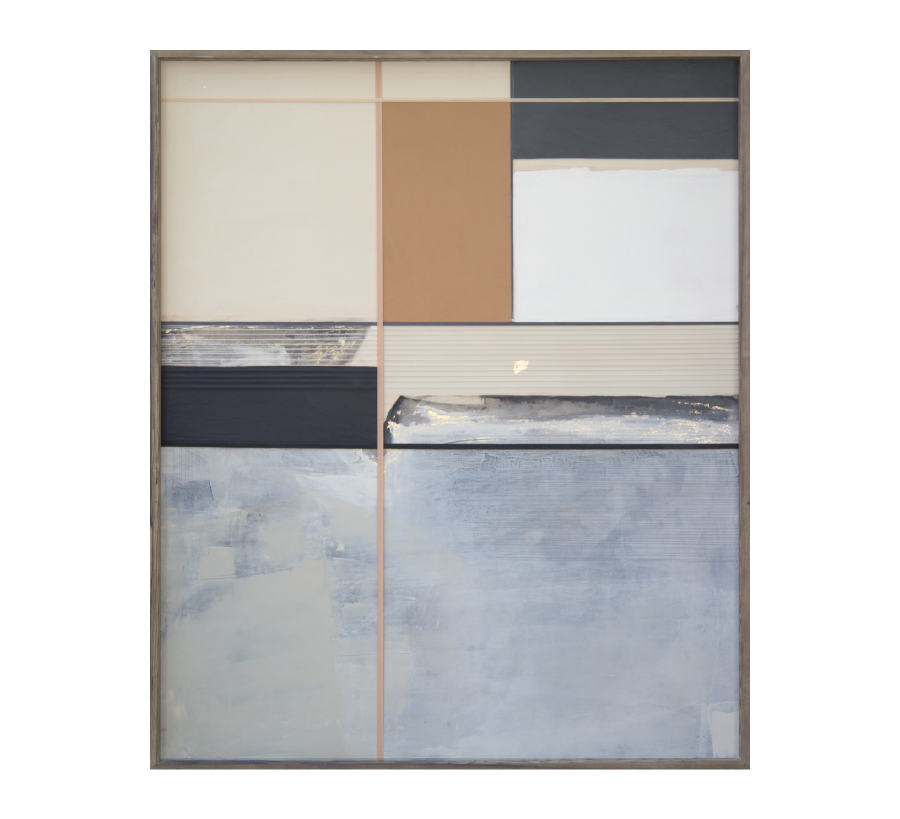 Millard House, 2015   Acrylic And Mixed Media On Wood  32x38 inches