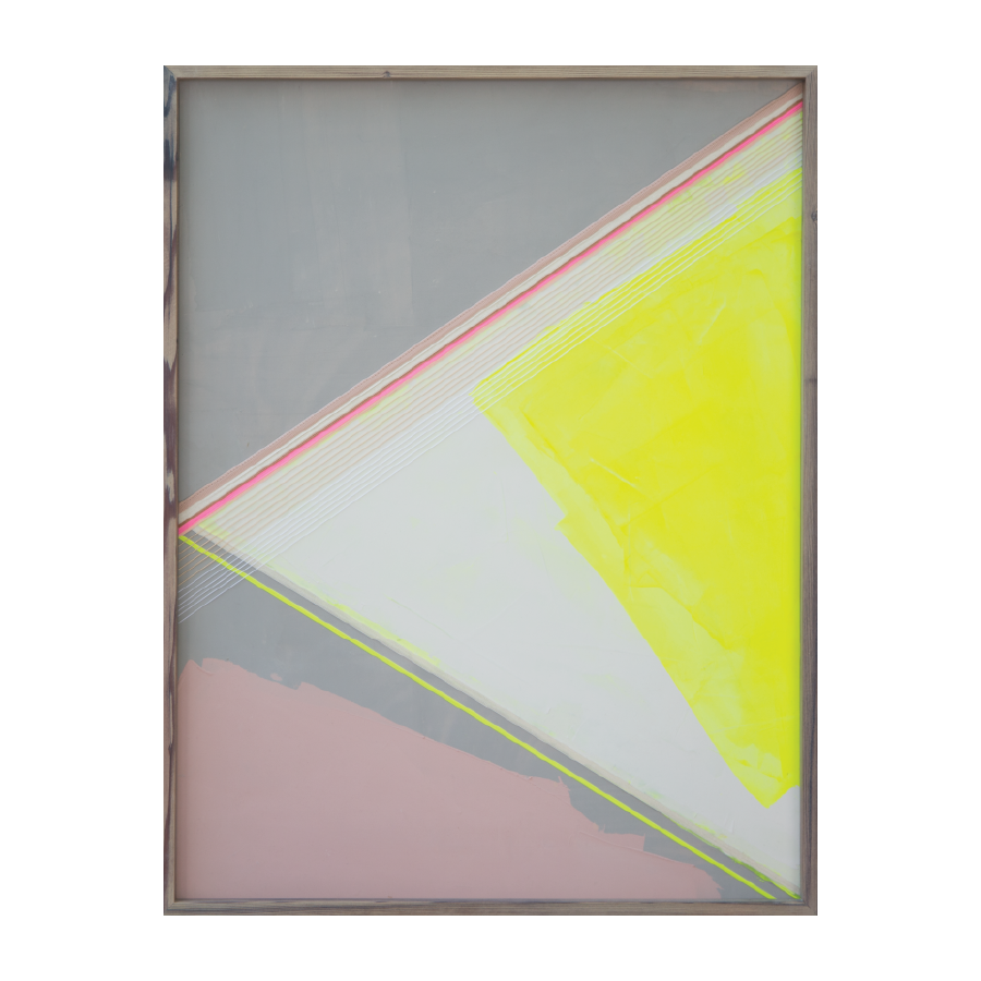 Broken Highlighter, 2015   Acrylic And Mixed Media On Wood  24x32 inches