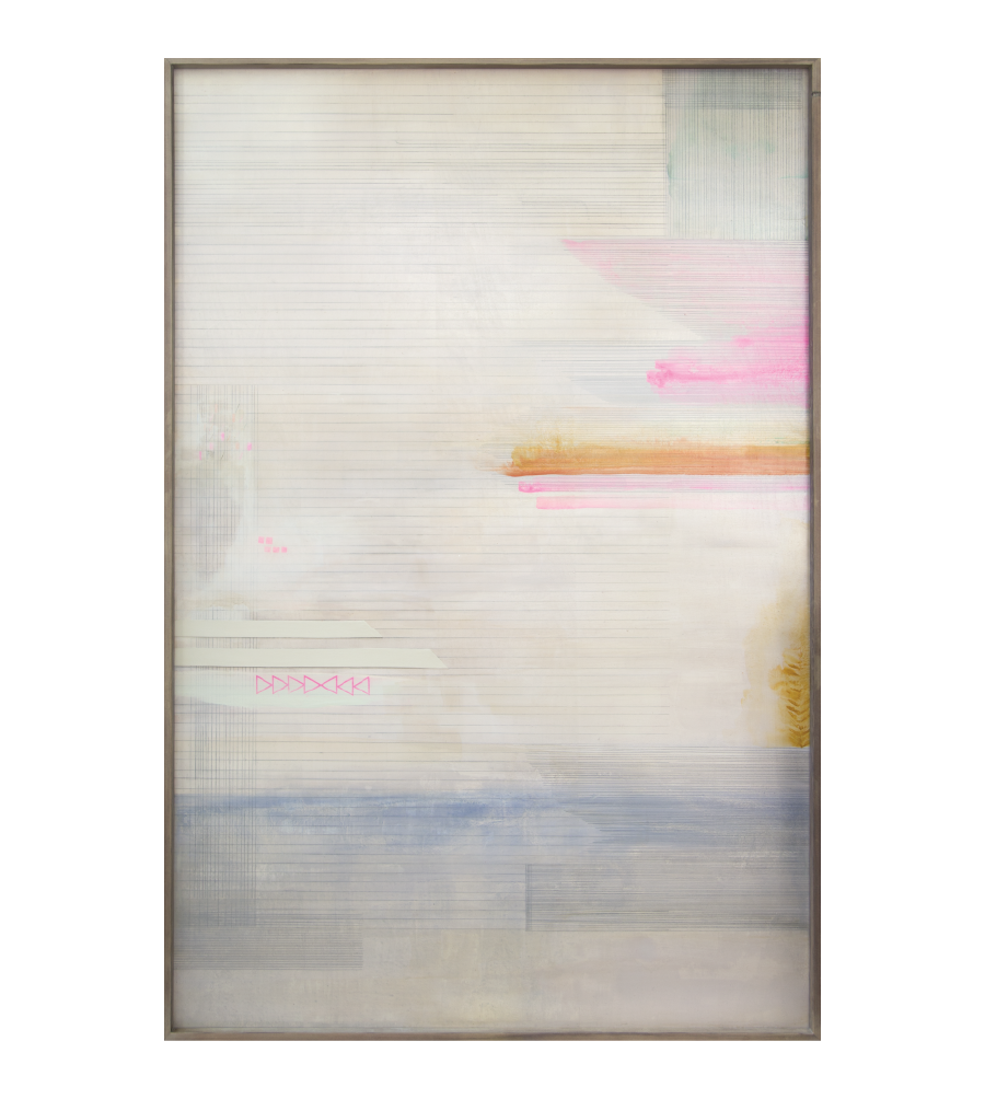 Lost In The Clouds, 2015   Acrylic And Mixed Media On Wood  40x60 inches // SOLD