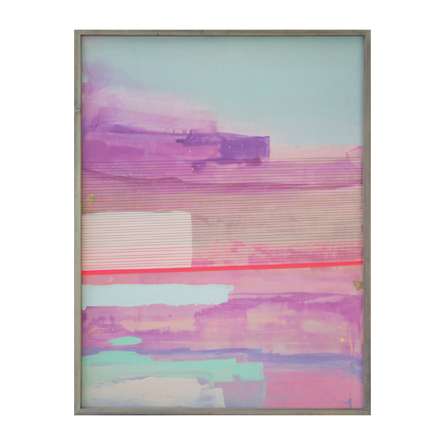 Elafonissi Beach, 2015   Acrylic And Mixed Media On Wood  24x32 inches // SOLD