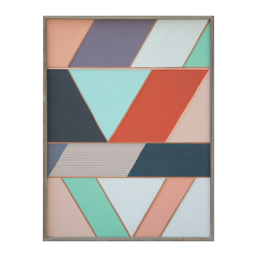 Bejmat Tiles, 2015   Acrylic And Mixed Media On Wood  24x32 inches