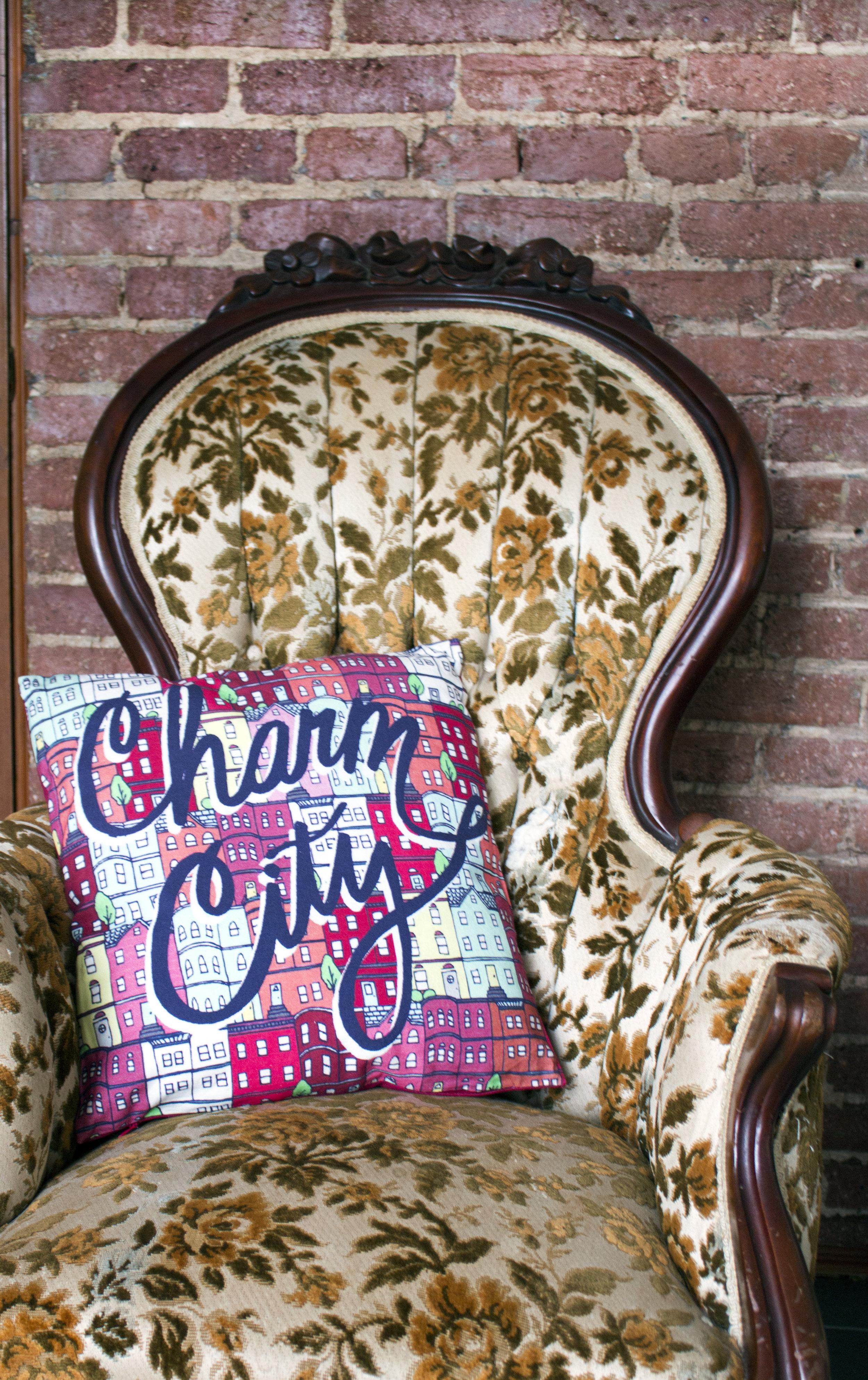 Charm City Pillow for  Caravanserai