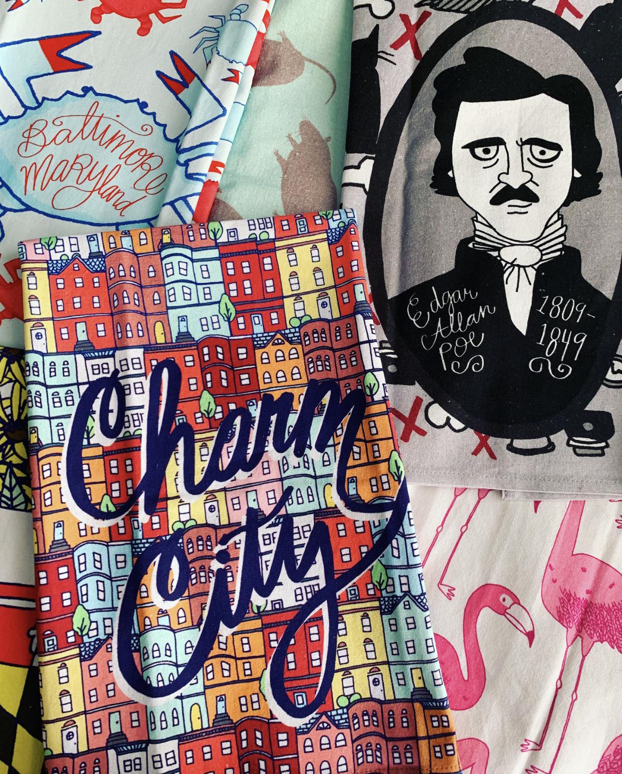 Baltimore Tea Towels for  Caravanserai