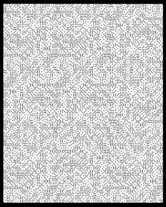 """Pattern Recognition #0032 , 40"""" x 32"""" Unique Pigment Print, 2015."""