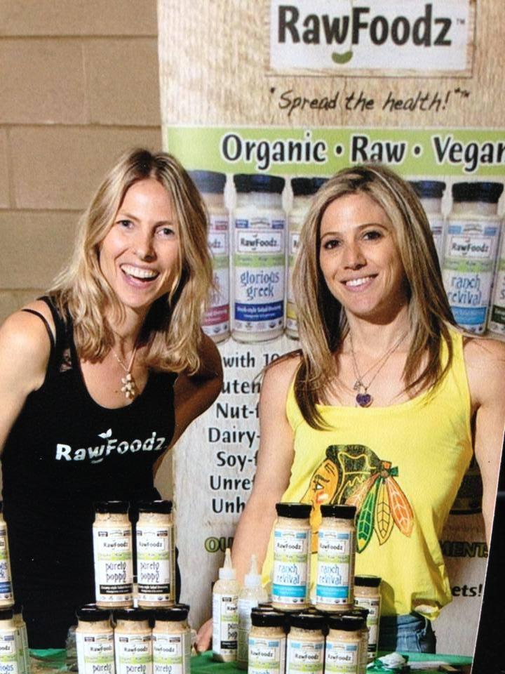 Sher Kopman (left) & Michelle Cass (right), founders of RawFoodz.