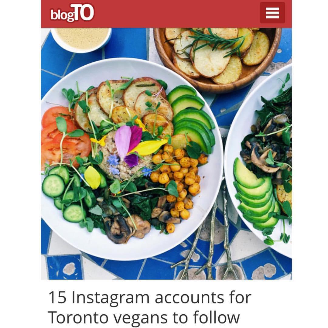 "BlogTO's of ""15 Instagram accounts for Toronto vegans to follow"""