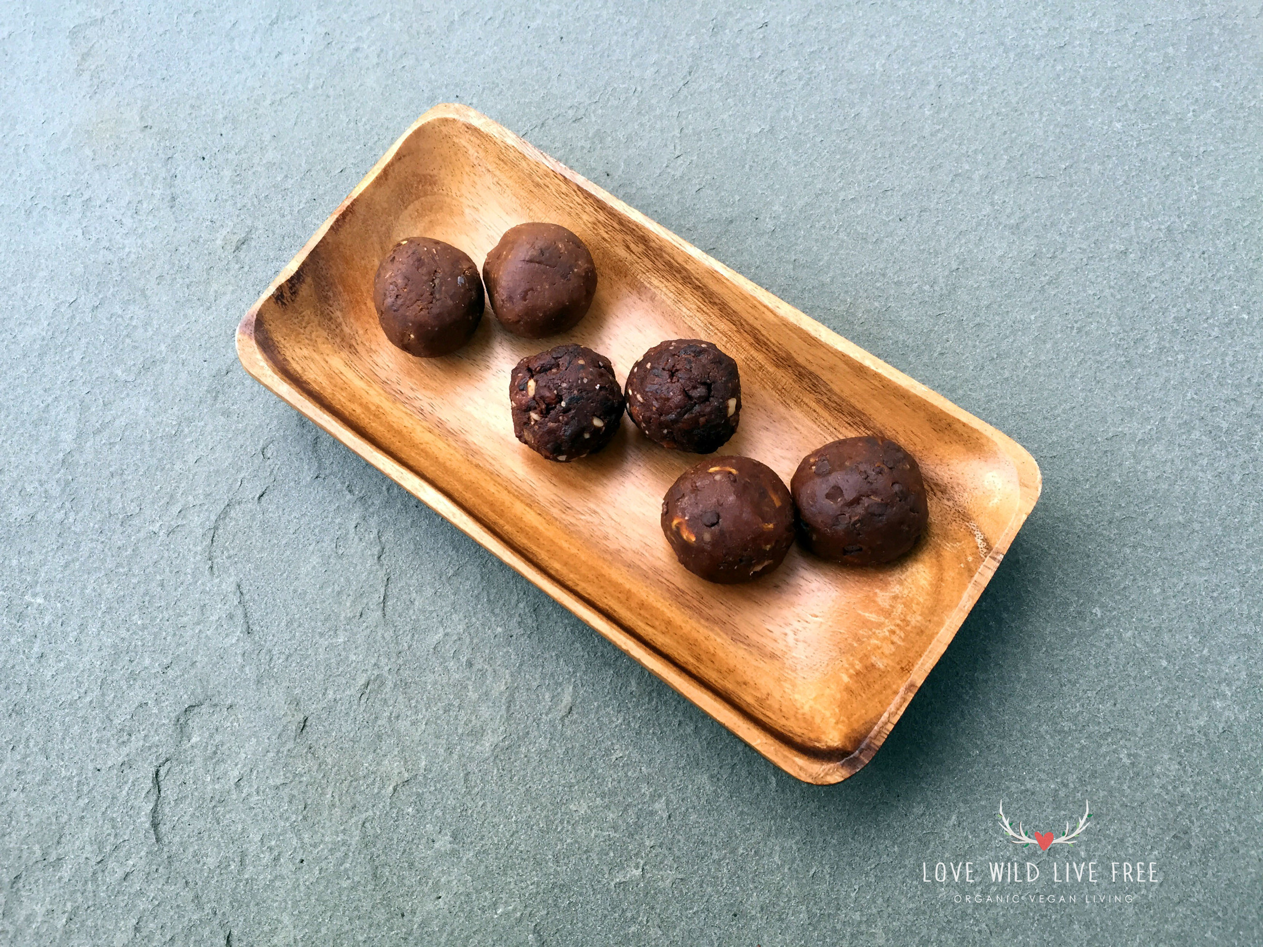 Peanut Butter Cookie Dough,Cookie Dough and Red Banana Bread energy balls from Kewaza.