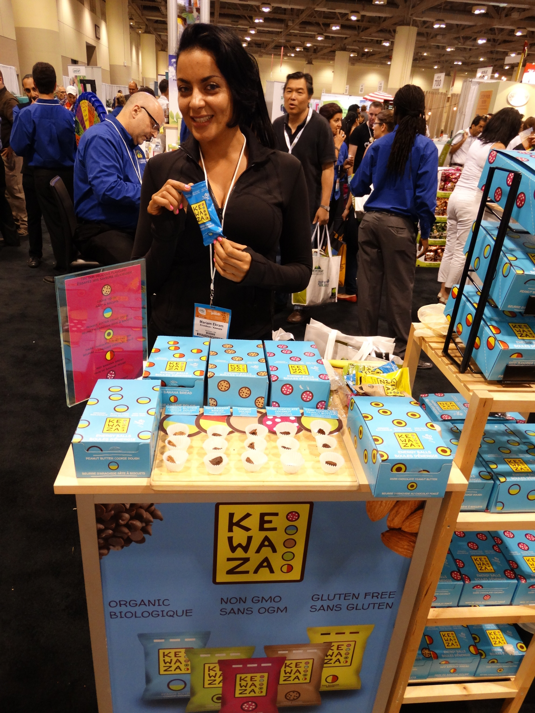 Mariam Ekram, founder of  Kewaza at CHFA East 2015 Trade Show. Photo by  LoveWildLiveFree.