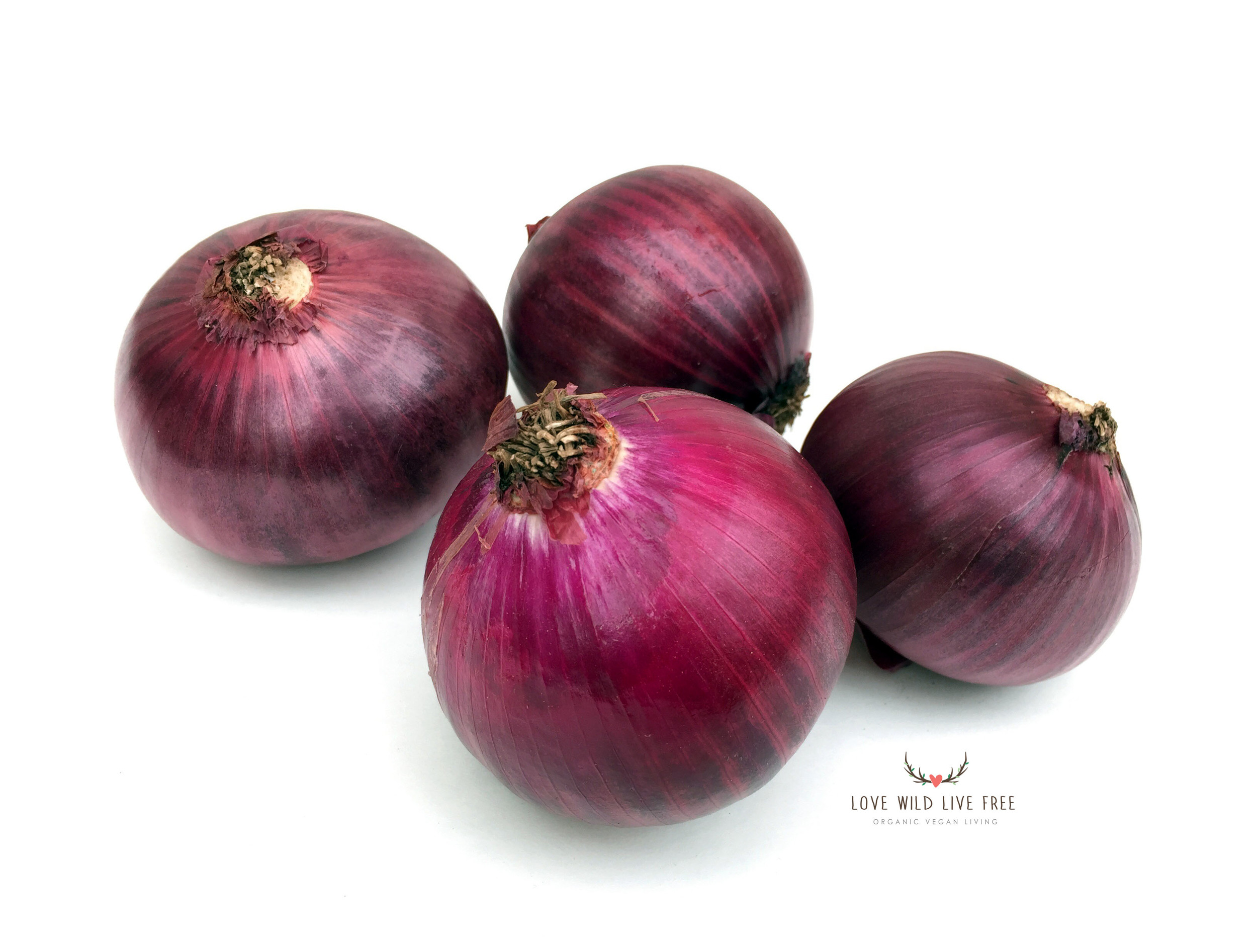 Red onions from Haystrom Farm at the Evergreen Brick Works Farmers' Market.