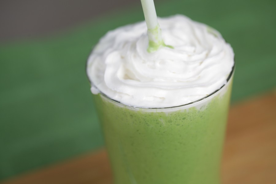 There are leafy greens hidden in this Shamrock Shake. Make this McDonalds veganized copycat Shamrock Shake for St. Pattys!