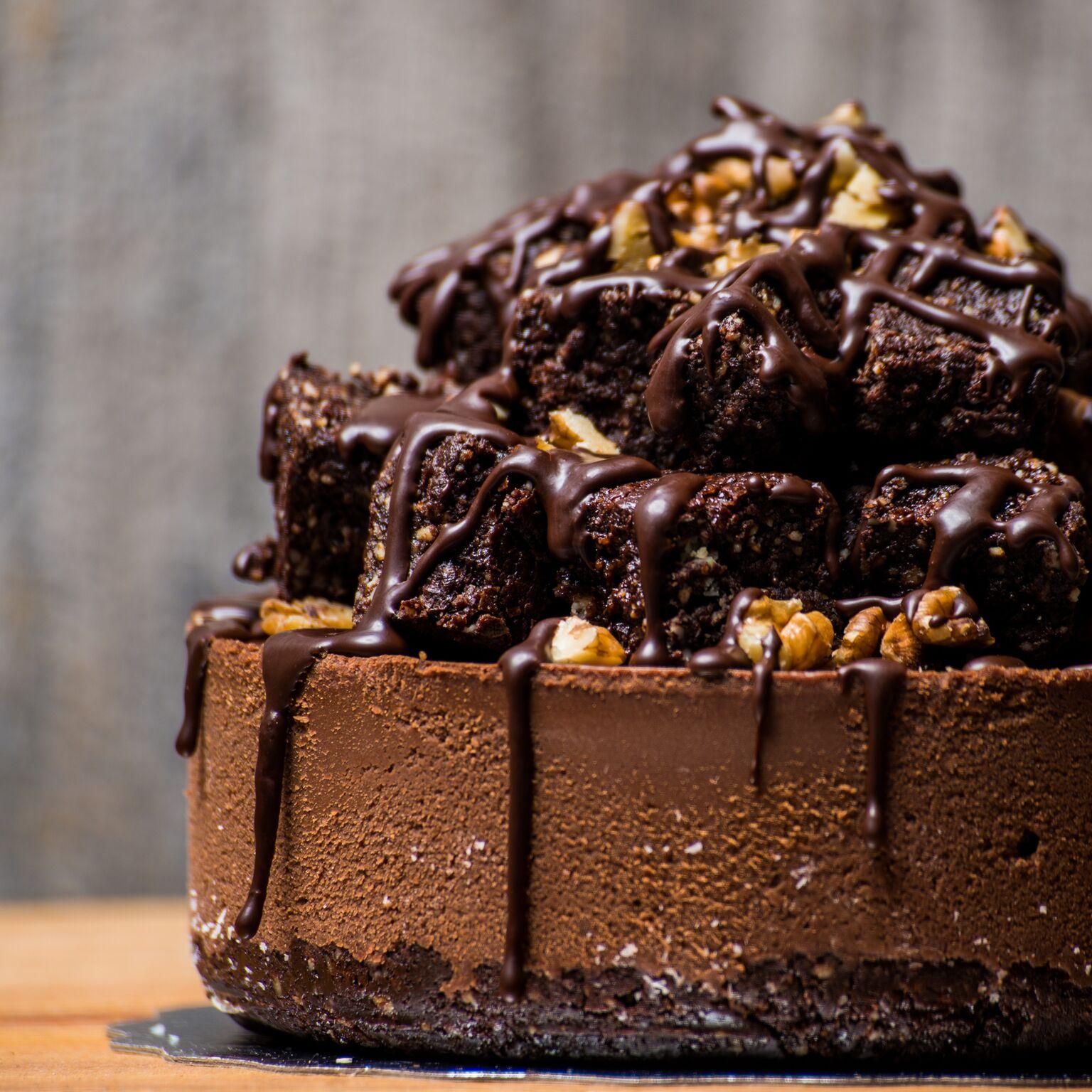 Gluten-free + Vegan Chaga Brownie Cake by Unbaked Cake Co.  Photo by: Tim D (www.instagram.com/timdbmit)  .