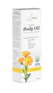 Wally's Natural Organic Body Oil is the perfect blend of chickweed, calendula, aloe vera, vitamin E and other botanicals.  Photo source:   www.wallysnatural.com.