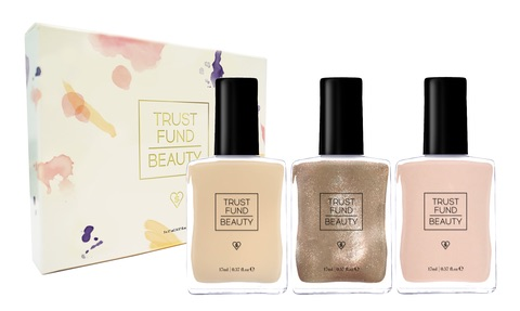 "Trust Fund Beauty Nail Polishes are vegan and ""10-Free"" of toxic ingredients commonly found in nail polishes.  Photo source: www.trustfundbeauty.com."