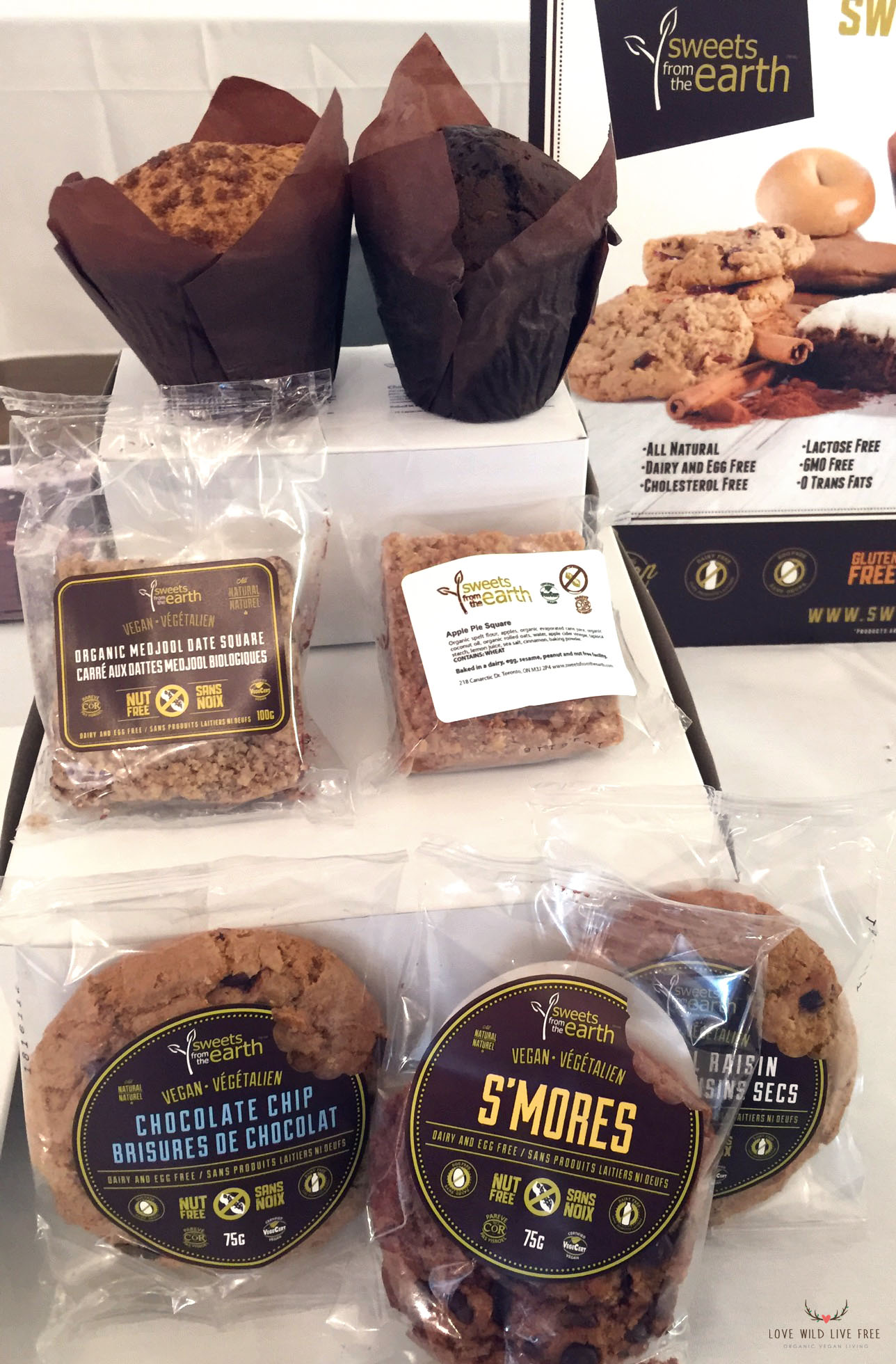 Sweets from the Earth : Two Sampler pack options for Veggielicious, including the Nut Free Special and the Gluten-Free Special. Both packs include delicious vegan treats like the ones pictured above.  Photo by: Love Wild Live Free.