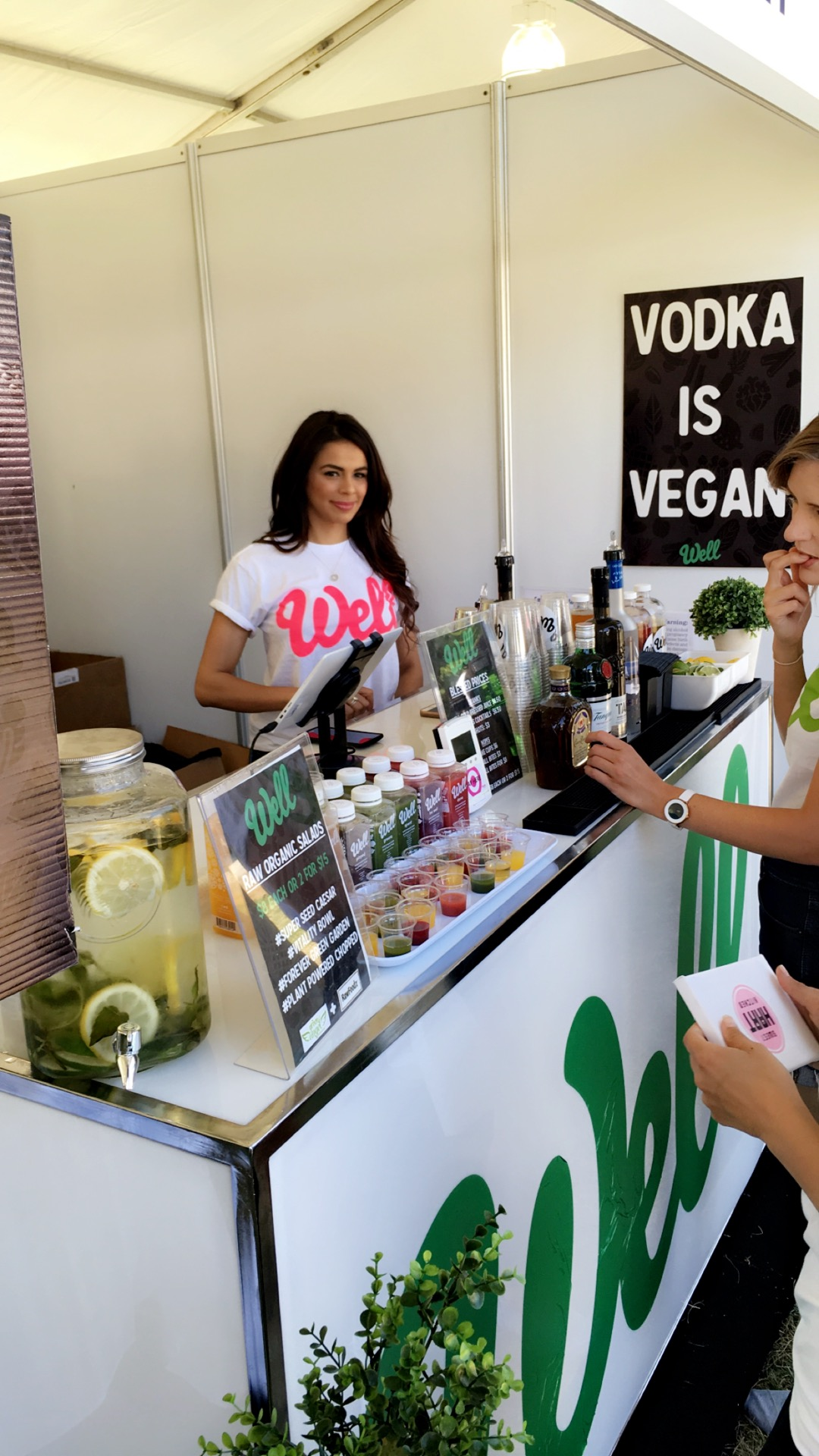 Grab cold pressed juice infused cocktails from  Well Juicery at the festival (as well their regular juices too). Photo courtesy of Well Juicery.