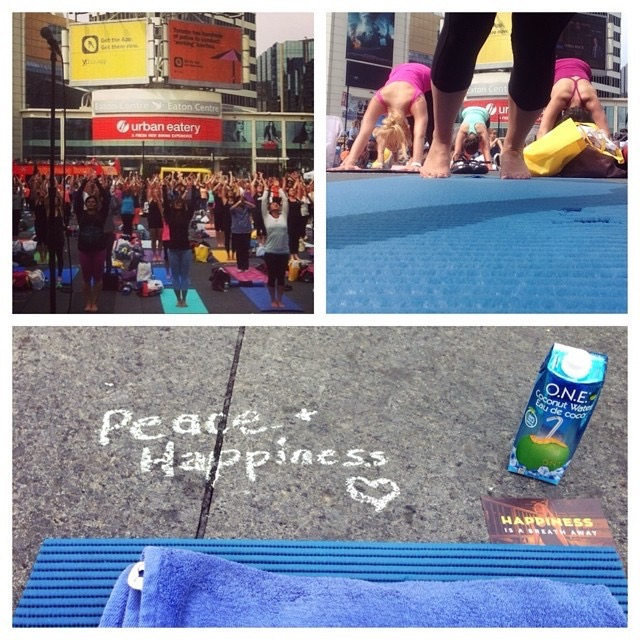 I participated in the 3rd annual Yogathon Event at Dundas Square in Toronto. These photos are a few of my memories from that year. Photo by Love Wild Live Free.