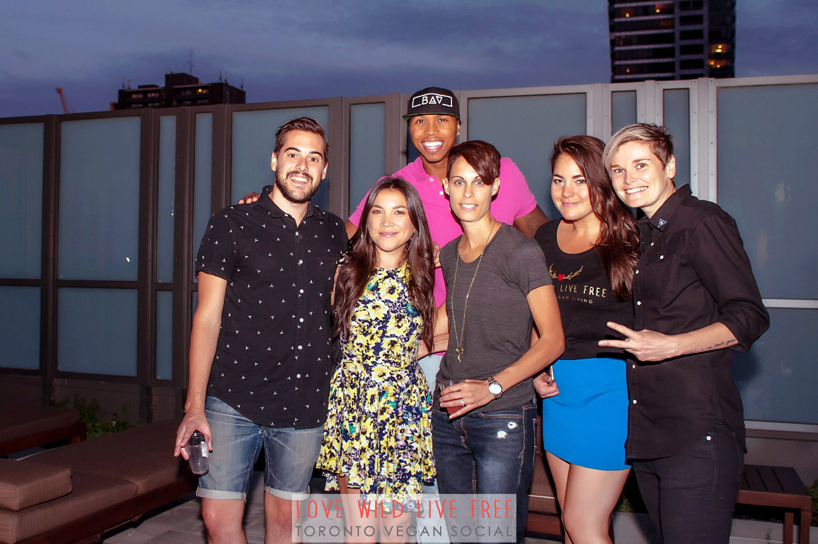 Love Wild Live Free Vegan Social 2016. From left:John Diemer and Lauren Toyota of  hot for food ,John Lewis aka the  Bad Ass Vegan and clothing designer, Anne-Marie Campbell aka the  The Meat Free Athlete , Avra Epstein of Love Wild Live Free and Jacky Wasserman of  BEETxBEET . Photo by:   LOF Photography .