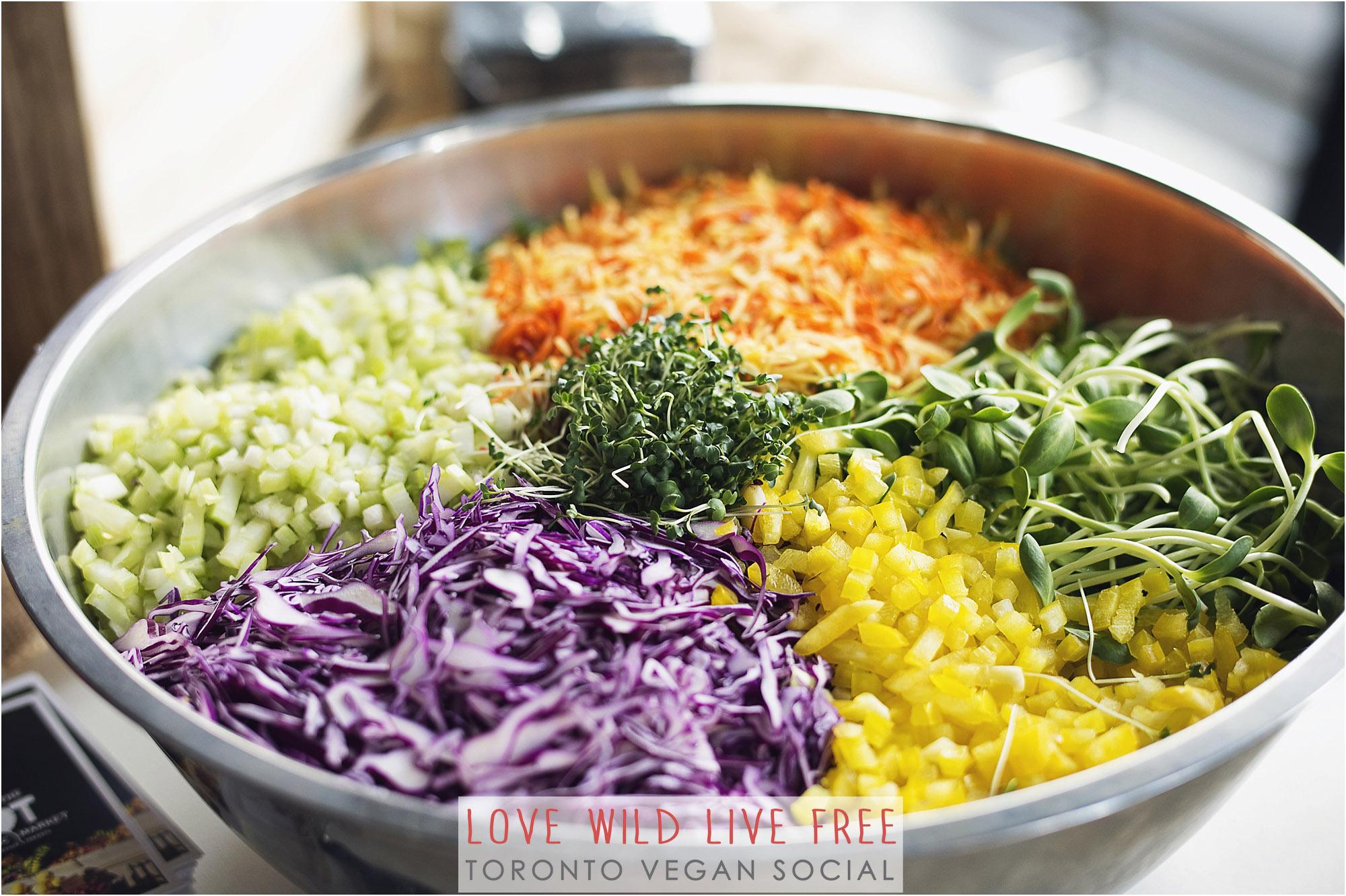 Salads and dressings by RawFoodz