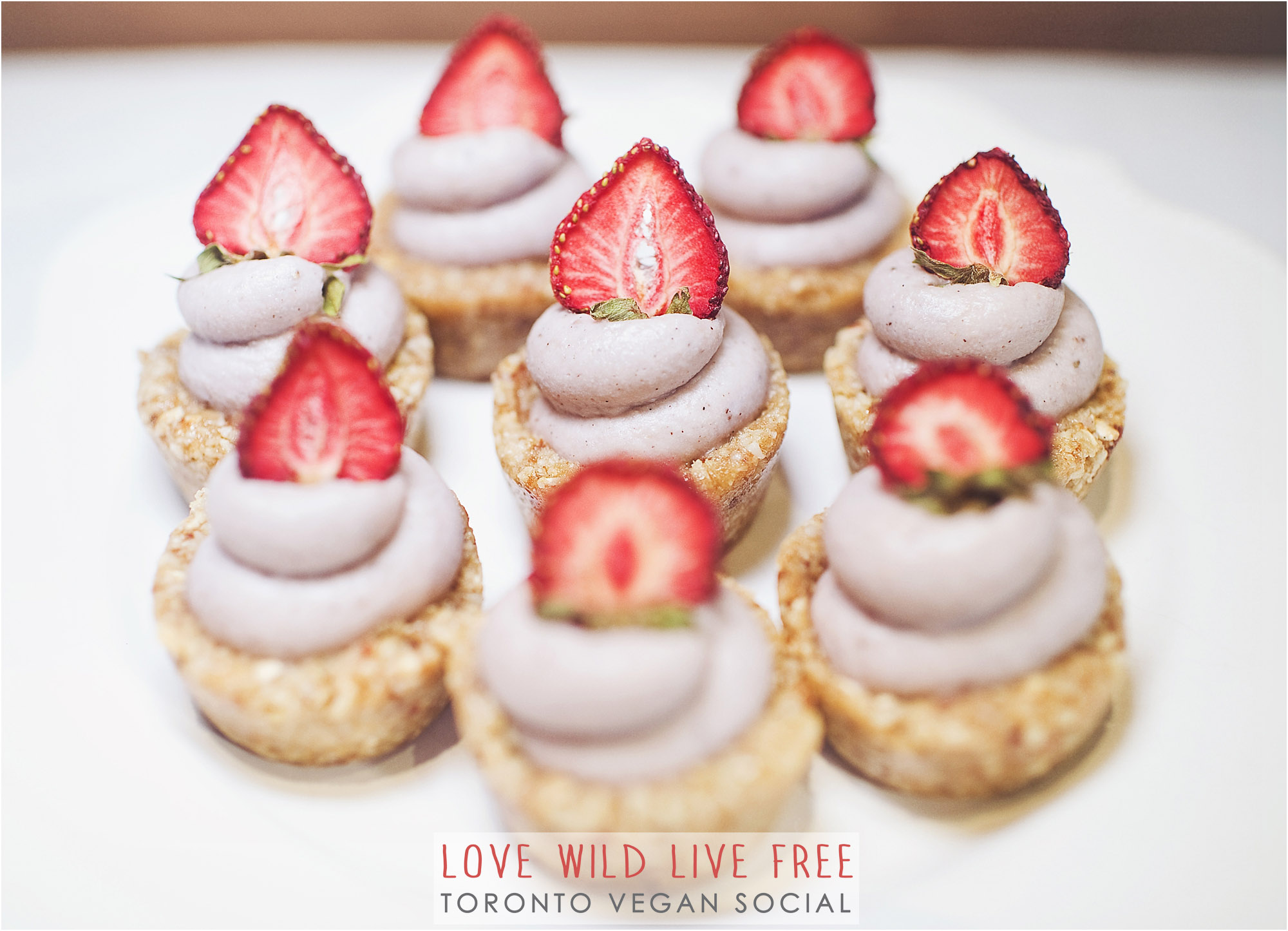 Unbaked Cake Co.strawberry tarts from the Love Wild Live Free Vegan Social. Photo by: Impact Media .
