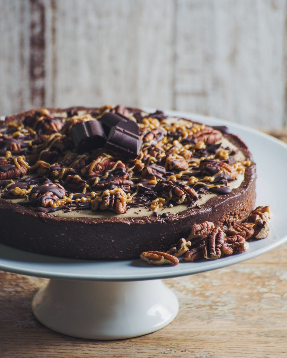 "No-Bake Chocolate Caramel Pecan ""Treatzza Pizza"" - just in time for the holidays!  Photo by: Tim Donnelly."