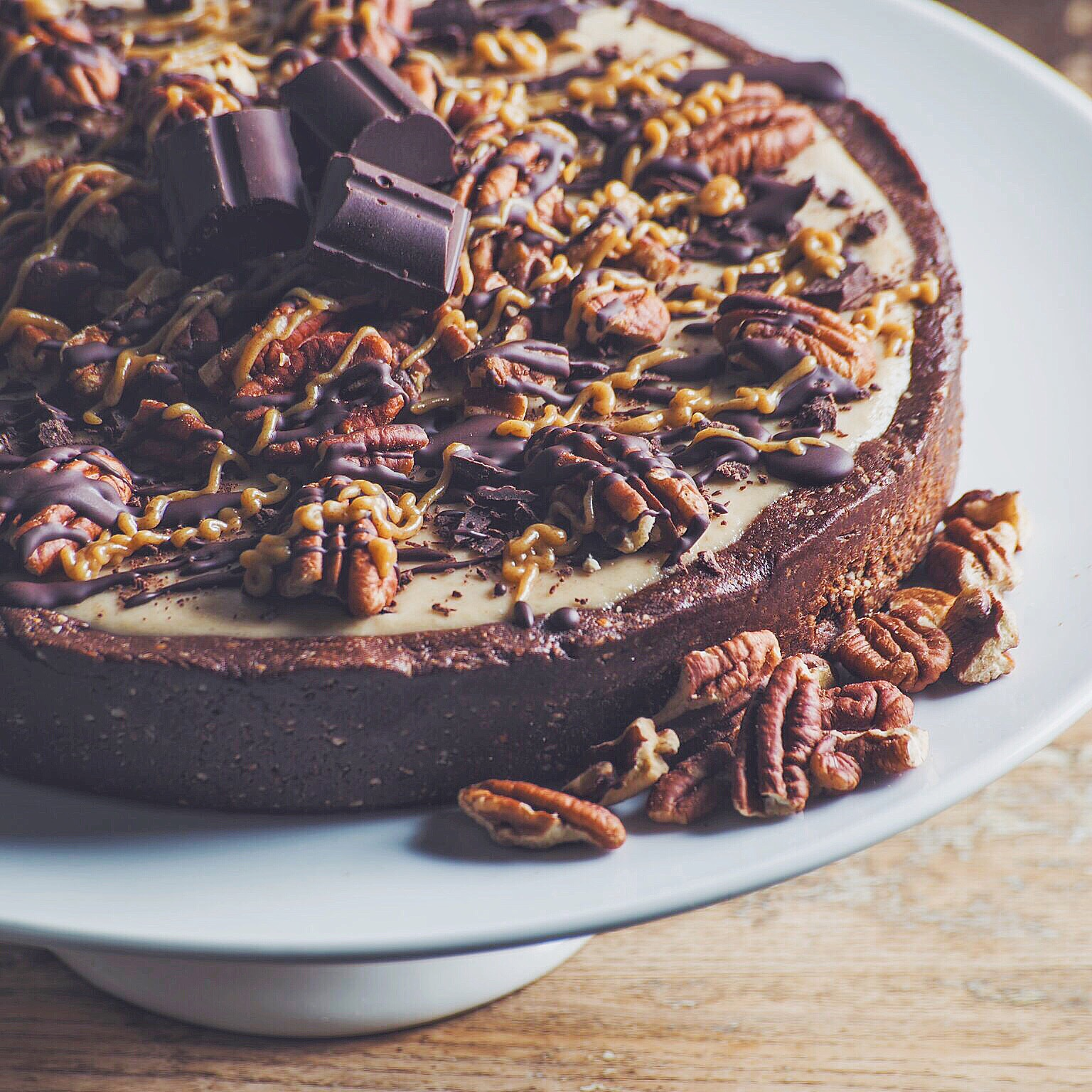 This dessert pizza is topped with chocolate, caramel and pecans, yum!  Photo by: Tim Donnelly.