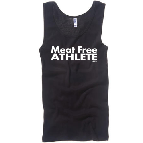 The  Meat Free Athlete logo and Meat Free Athlete text logo designs are best sellers on www.shirtactivism.com.
