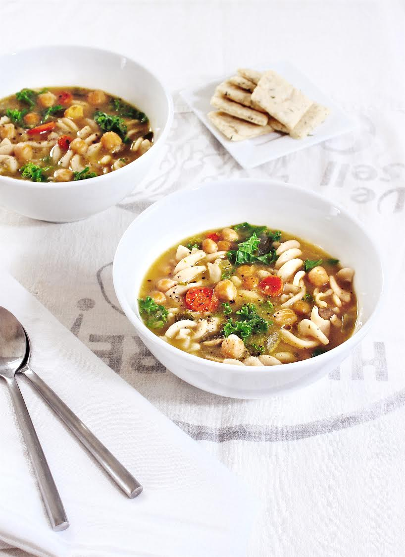Comforting Veggie Noodle Soup by YumUniverse. It's like a big hug in a bowl. Photo courtesy of YumUniverse.