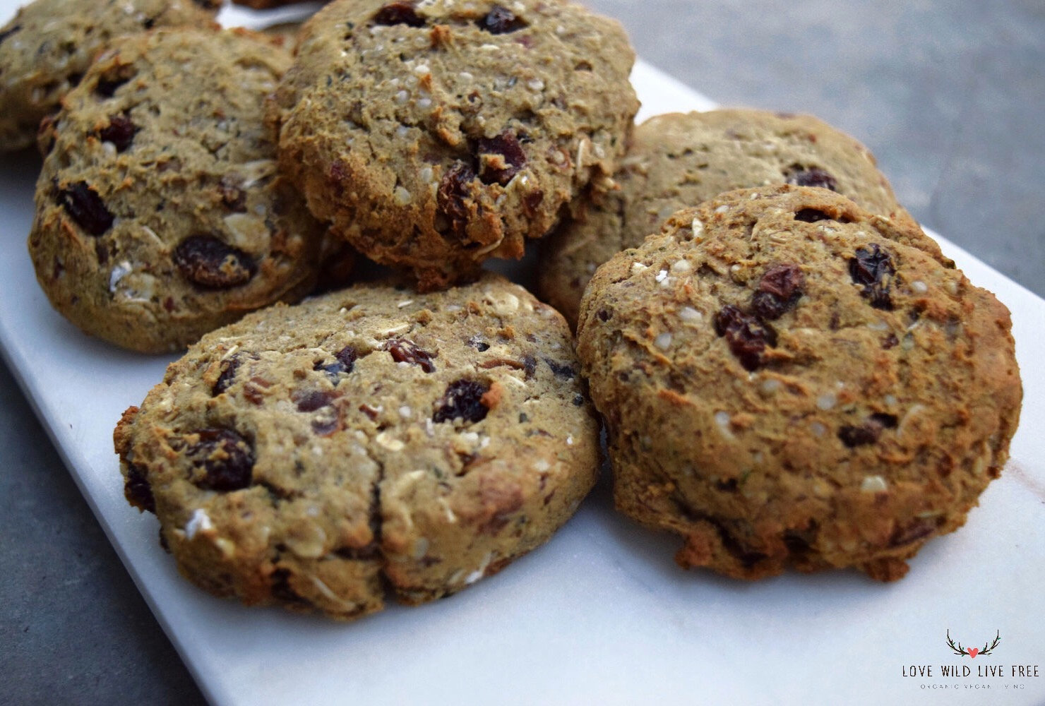 Oatmeal Raisin Hemp Breakfast Cookies Oil Free Sugar Free Gluten Free Option Love Wild Live Free