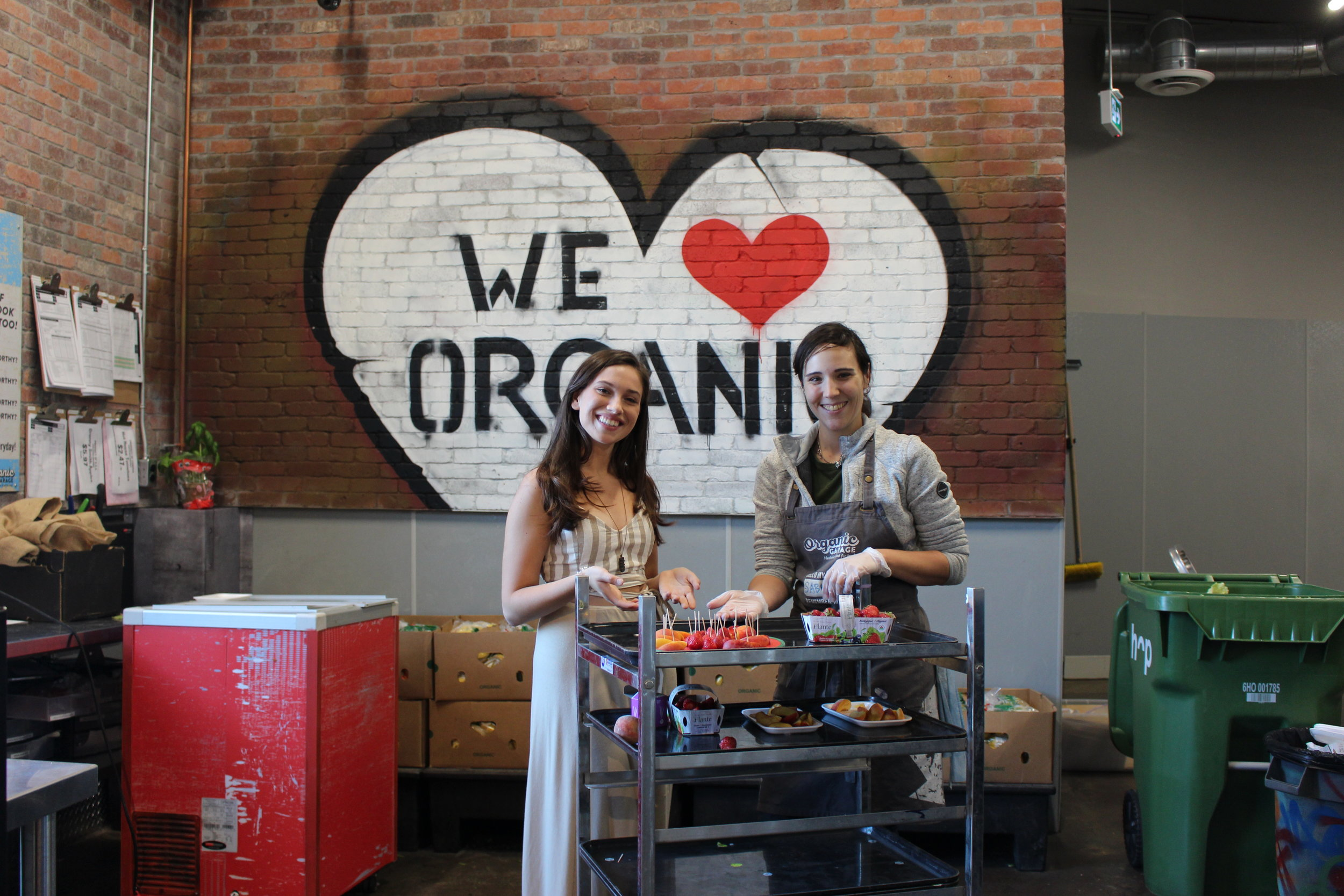 Organic Garage sells the best quality organic and all natural products, including 100% certified organic produce and many vegan options at everyday affordable prices, so customers can shop for Healthier Food For Less!  Photo by    Rachel Parent.