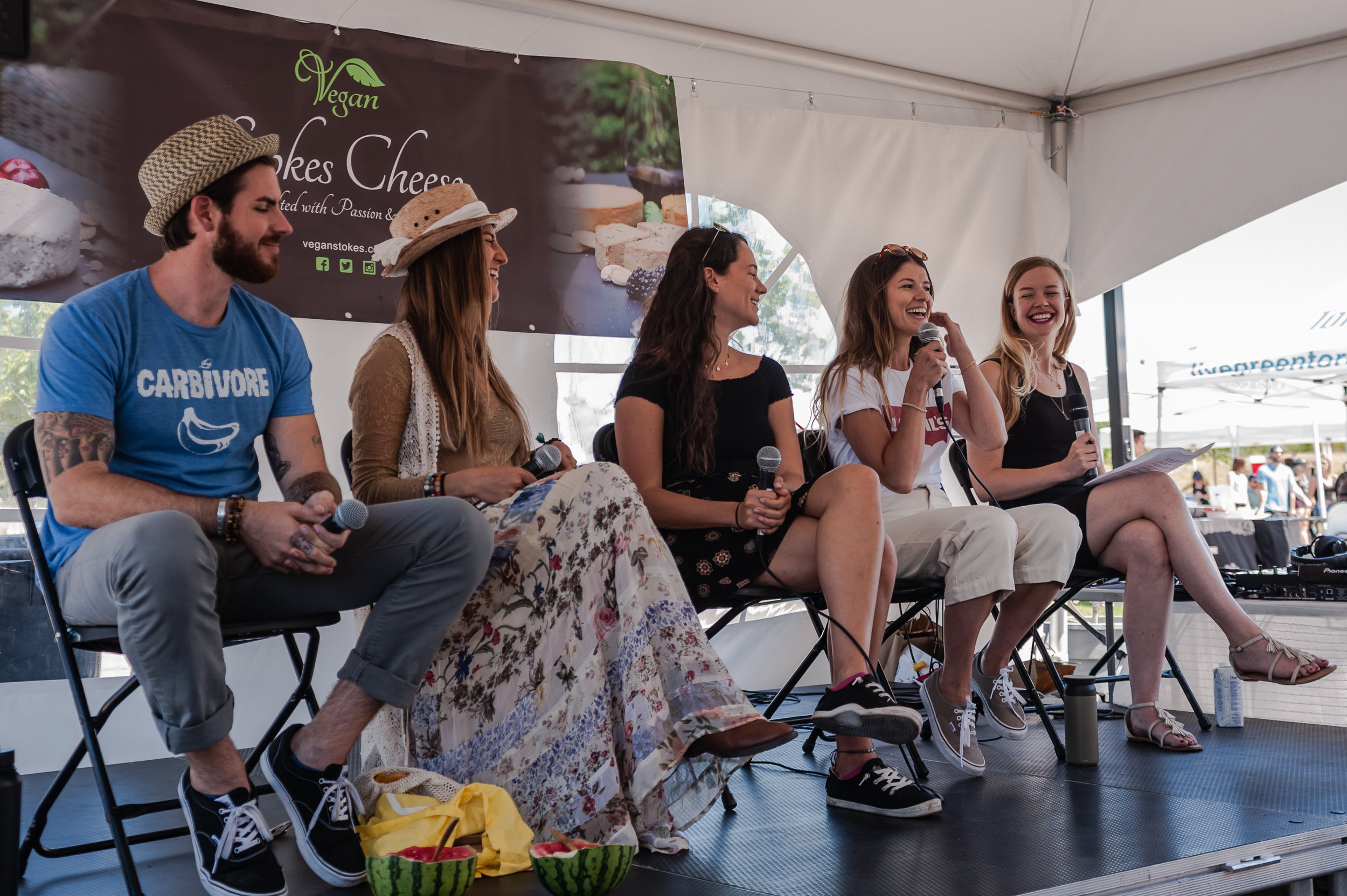 The Sustainability Panel at The 2018 Sustainable Block Party. Photo by:  LOF Photography .