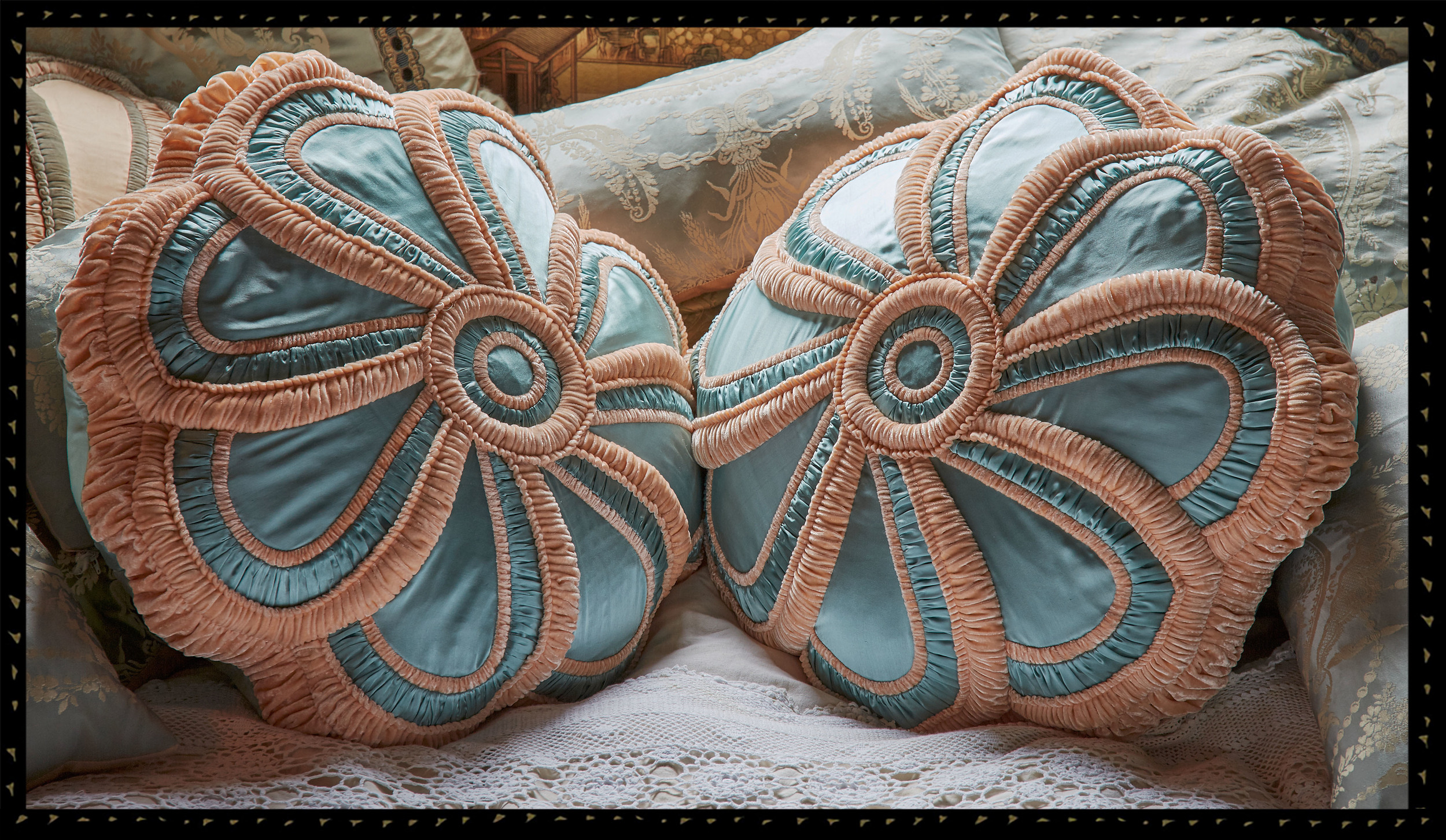 Aroused Rose cushions